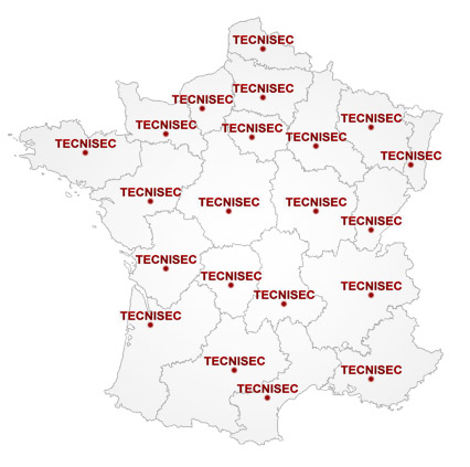 Zones d'intervention Tecnisec