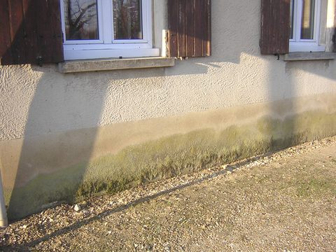 Remontes Capilaires Vues Extrieures Tecnisec Isolation Humidite Mur  Exterieur
