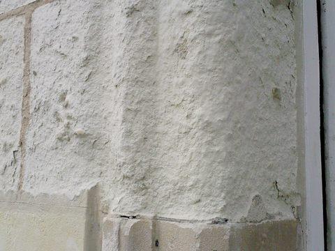 salpetre mur exterieur good exemple de dgts causs par des remontes capillaires with salpetre. Black Bedroom Furniture Sets. Home Design Ideas
